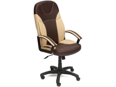 Кресло Twister кож.зам Коричневый + Бежевый (36-36/36-34)