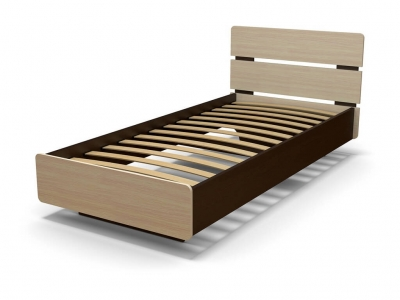 Кровать Жанна 90 с основанием Венге - Дуб млечный