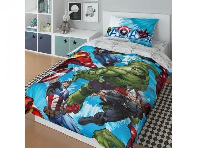 Комплект постельного белья Marvel 1,5СП Avengers sky (арт. 7247475)