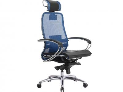 Компьютерное кресло Samurai S-2.03 синий с ковриком СSm-25